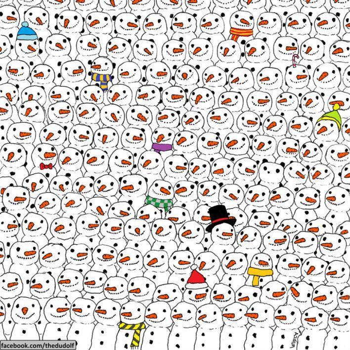 Zoekplaatje panda sneeuwpop