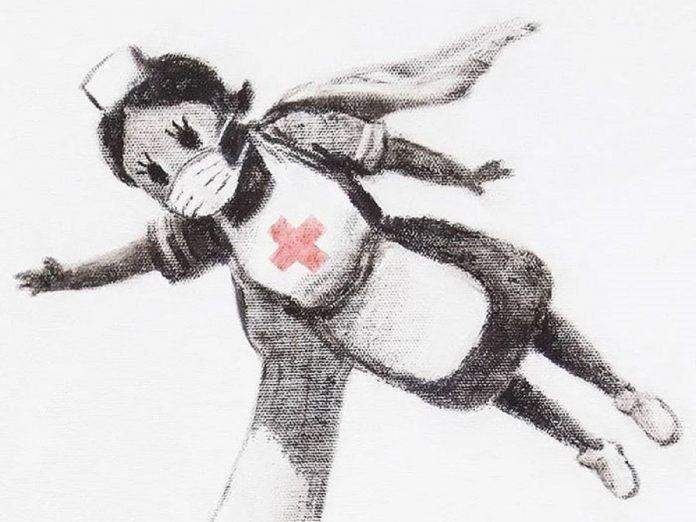 Banksy Kunstwerk ziekenhuis